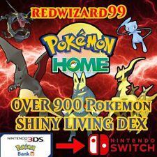 Pokemon Home 900+ Gen 1-7 SHINY Living Complete Pokedex + Rare Events & Unown