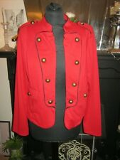 Gorgeous Steampunk.Jacket, Military Style {14} Red with black trim gold buttons
