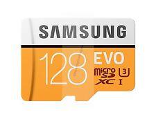 SAMSUNG EVO MICROSDXC MICRO SDXC 100MB/s Read 128 GB FLASH MEMORY CARD NEW AU