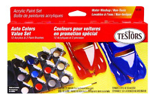 Testors Model Car Acrylic Paint Pot Set Engines Supplies Tools Kits Models .