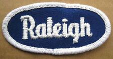 RALEIGH small Name PATCH for Shirt or Jacket, cloth tag, Name in white