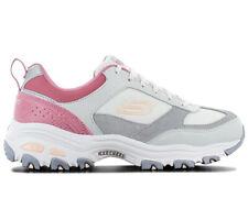 Skechers D lites fan love Women's Sneaker 13140-GYPK Grey Sport Shoes New