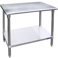 L&J Ss1896, 18x96-Inch All Stainless Steel Work Table with Undershelf