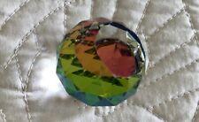 """Vintage Swarovski Crystal Rainbow Round Prism Ball Paperweight 1.5"""""""
