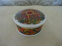 Crochendy china Wales Celtic Knot Trinket Box 7.5cm Diameter