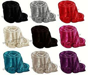 Faux Fur Throw Fleece Blanket Soft Luxury Mink Sofa Bed Large Medium Small faux