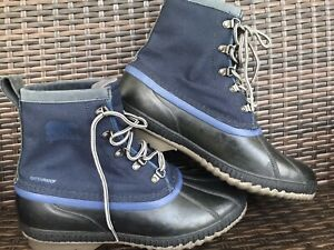 Mens Sorel Cheyenne II Waterproof Boots Size 12 NWT Collegiate Navy Blue Nylon
