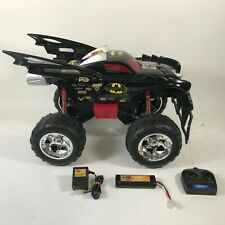 RARE Tyco Batmobile Batman Monster Jam RC Truck 1:6 Scale w Battery Remote WORKS
