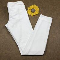 Aeropostale Womens Ashley Ultra Skinny Jeans Size 3/4 Stretch White Denim as741