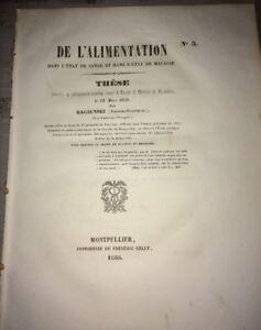 Alimentation dans l'état de santé et dans l'état de maladie. BAGIENSKI, 1850.