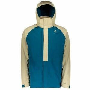 SCOTT Ultimate Dryo 40 Blue Sand Men Mens Ski Clothing Jacket Waterproof Large L