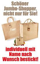 Einkaufstasche Shopper JUTE Handtasche, mit Namen nach deinem Wunsch bestickt!