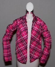 Barbie Doll Clothes Fashionista Dreamhouse Pink Plaid Open Front Top Shirt
