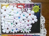 28 CMC GYPSIES - WHITE with Multi-Coloured Jewels - 25-35mm Petaloo I