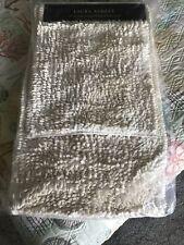 New listing Laura Ashley Set Of 2 Cream Luxury Chenille Bath Rug Carpet,Soft Floor Bathmat
