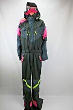 VTG JD Sun Valley Neon black Ski snow suit sz S Jumpsuit Belted COLORBLOCK