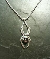 Skull Spider Necklace Pendant Charm Gothic Macabre Horror Monster Gift Present