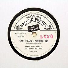"""Mary Rose BRUCE """"AIN 'T entendu encore rien"""" (EE +) RCA Victor vinyle Promo [78 tours]"""