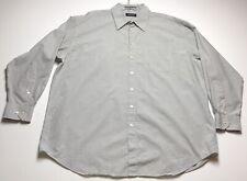 Claiborne Men's XXL 18 34 35 Multi Color Check Plaid Button Down Dress Shirt