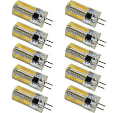 10pcs G4 Bi-Pin T5 72 4014 LED Light Bulb Crystal Chandelier Lamp 110V 2900K