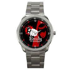 New Emily The Strange Custom Stainless Steel Metal Watch