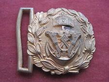 Kaiserliche Marine Feldbindenschloß f.d.Feldbinde Messing vergoldet