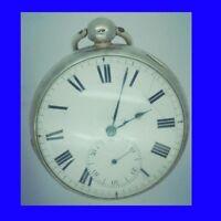 Rare Silver Fusee  Cylinder Bristol Drum Cased Pocket Watch 1820