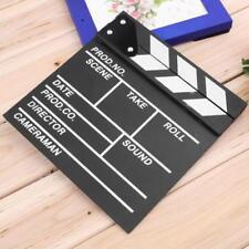 Director Video Scene Clapperboard TV Movie Clapper Board Film Slate Cut Prop  WT