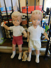 Vtg Lot 1950's Big Buster Brown Mary Jane Tige Dog Shoes Display Mannequin Dolls