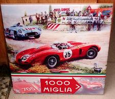 Mille Miglia Ferrari and Mercedes painting TRIBUTE CERAMIC TILE
