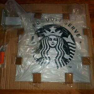 """Starbucks Metal Retail Sign """"We Proudly Serve"""" Siren Double Sided 12 x 12"""""""