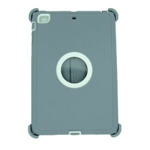 For Apple iPad mini 2/3 Case Cover w/(Stand Fits Otterbox Defender) Gray White