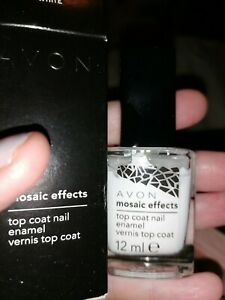 Avon Mosaic Effects White Top Coat Nail