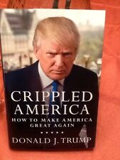 DONALD TRUMP SIGNED AUTOGRAPHED BOOK CRIPPLED AMERICA LIMITED EDITION 1/1 GOP