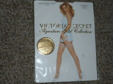 NIP Victoria's Secret Signature Gold Thigh-high stay-up stockings oatmeal size L