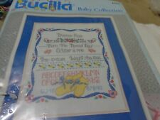 BABY BIRTH ANNOUNCEMENT-BUCILLA 1996-BORN THIS DAY-COUNTED CROSS STITCH KIT