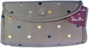 Cosmetic Travel Bag, 3 Pocket, Chocolatte with Polka Dots