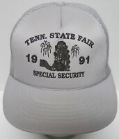 Vtg 1991 TENNESSEE STATE FAIR SPECIAL SECURITY SNAPBACK TRUCKER GREY HAT CAP