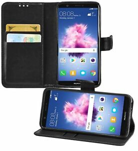 Fits Huawei P Smart PU Leather Wallet Flip Case Cover Book & Tempered Glass UK
