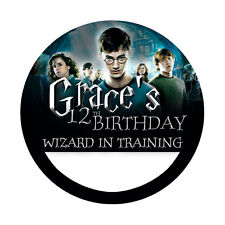 12 Harry Potter Birthday Party Favors Personalized Name Tag Stickers