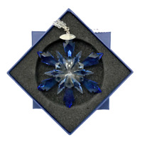 Christmas Crystal Glass Ornament Hanging Pendant Frozen Edition Snowflake BLUE