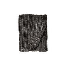Michael Aram Rib Knit Throw - Charcoal / Silver