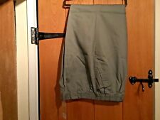 BNWT Cotton Traders Mens 44/29 Fern Green Elastic Waist Cotton Trousers