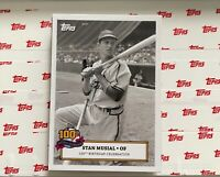 2020 Topps Stan Musial 100th Birthday Card #6 Border AUTO SP