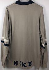 VTG 90's NIKE Tan Long Sleeve 3 Button size L Henley Men's Shirt