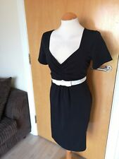 Ladies NEXT Dress Size 18 Maternity Pregnancy Black White Stretch Day Casual