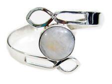 enticing Rainbow moonstone 925 Sterling Silver White Bracelet genuine jaipur US