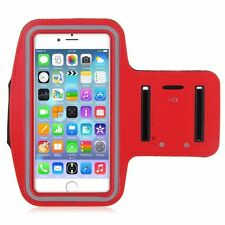 """iPhone 6 Plus 5.5"""" Red Premium Running, Jogging, Cycling Armband Phone Strap"""