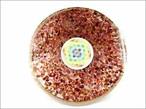 Garnet Gemstone Orgone Tea Coaster Flower of Life Round 40 Page Booklet