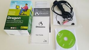 DRAGON naturally Speaking 10 SPECIAL EDITION speech Recognition software